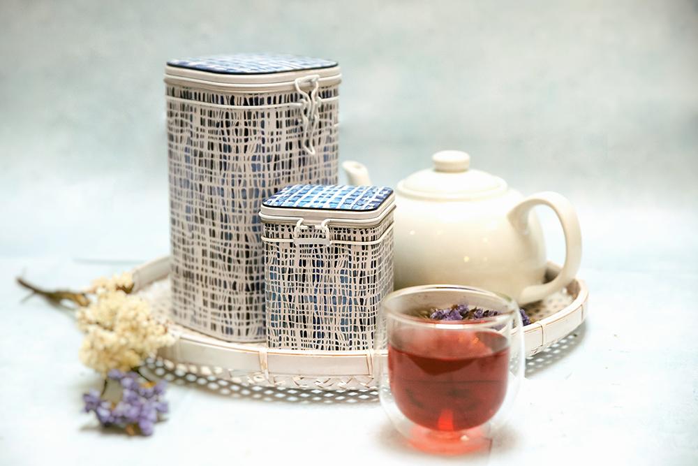 eleganckie puszki do herbaty